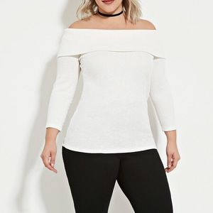 *NEW* Forever 21 OFF THE-SHOULDER SWEATER